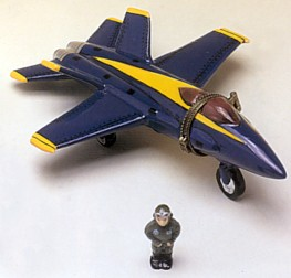 F/A-18 Blue Angels Hinged Box With Pilot