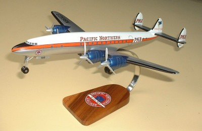 Lockheed Constellation Pacific Northern Airlines Custom Scale Model Aircraft With Gear Down