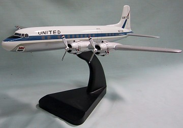 DC-6 United Airlines Custom Scale Model Aircraft