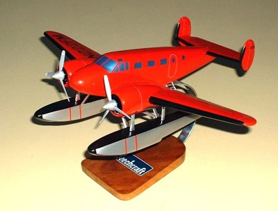 Beechcraft G18 With Floats Custom Scale Model Aircraft
