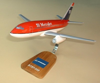 Us Airways Boeing 737 Metrojet Custom Scale Model Aircraft
