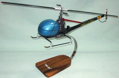 Us Army OH-23 Helicopter Custom Scale Model Aircraft