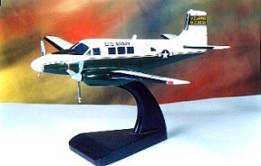 Beechcraft Queen Air US Army Version Custom Scale Model Aircraft