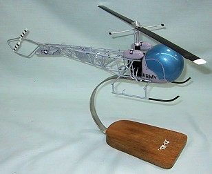 Us Army TH-13 Helicopter Custom Scale Model Aircraft