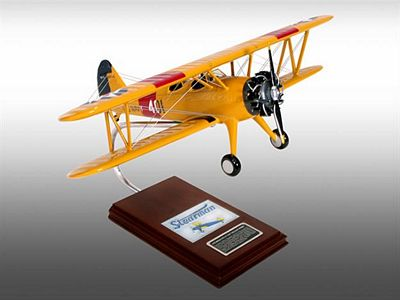 N2S-2/3/4 Stearman Yellow Peril 1/22 Scale Model Aircraft