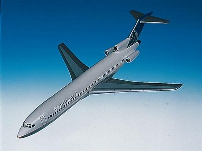 B727-200 Continental Airlines 1/100 Scale Model Aircraft