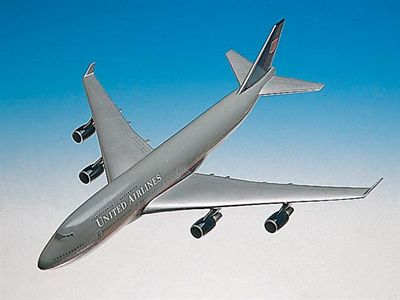 B747-400 United Airlines 1/200 Scale Model Aircraft
