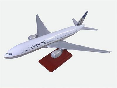 B777-200 Continental Airlines 1/100 Scale Model Aircraft