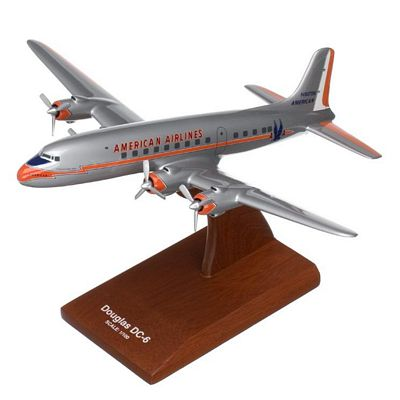DC-6B/C American Airlines 1/100 Scale Model Aircraft