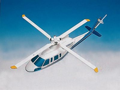 S-76C+ Demonstrator 1/40 Scale Model Aircraft