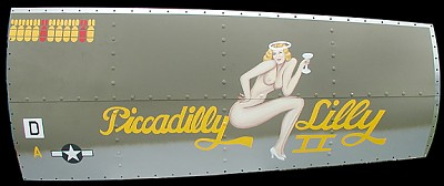 B-17g Picadilly Lilly II Aluminum Aircraft Nose Art Panel