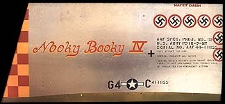 P-51 Mustang Nooky Booky Aluminum Aircraft Nose Art Panel