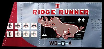 P-51 Mustang Ridge Runner III Aluminum Aircraft Nose Art Panel