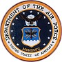 Department Of The Air Force Wooden Handcarved Seal Plaque