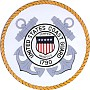 United States Coast Guard Wooden Handcarved Seal Plaque