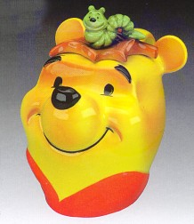 Summer Pooh Head Large Teapot By Cardew
