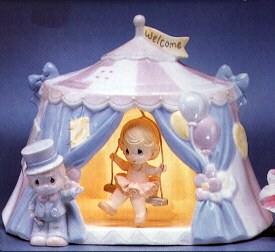 Precious Moments Porcelain Circus Tent Night Light