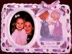 Precious Moments Girls With Kitten Photo Frame