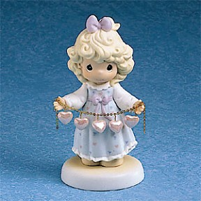 Precious Moments Girl With Heart Necklace Figurine
