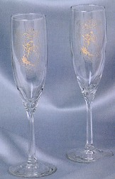 Precious Moments Flute Glass Set