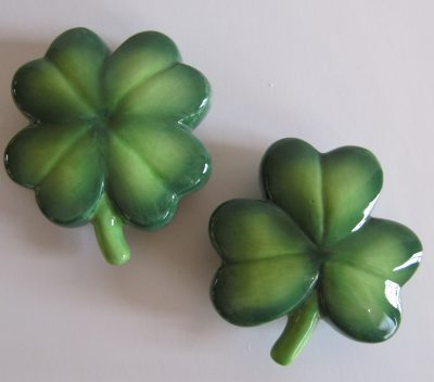 Shamrock Salt And Pepper Shakers