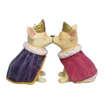 Aye Chihuahua Prince And Princess Magnetic Salt And Pepper Shakers