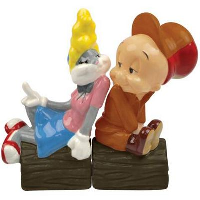 Elmer Fudd In Love Salt And Pepper Shakers