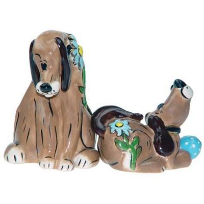 Puppy Love Studio H Salt And Pepper Shakers