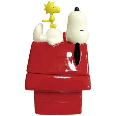 Peanuts Snoopy On His Dog House Salt And Pepper Shakers