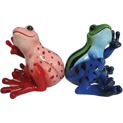 Sitting Peace Frogs Salt And Pepper Shakers
