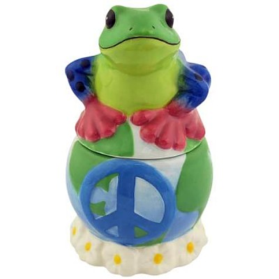 Peace On Earth Frog Salt And Pepper Shakers
