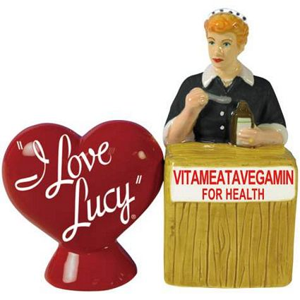I Love Lucy Vitameatavegamin Salt And Pepper Shakers