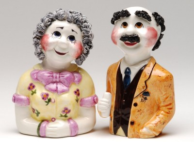 Sadie And Charlie Schwartz Salt And Pepper Shakers