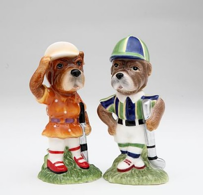Golf Dogs Salt And Pepper Shakers