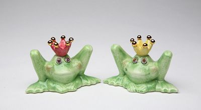 Frog Prince And Princess Salt And Pepper Shakers