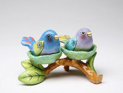 Birds In Nests Salt And Pepper Shakers