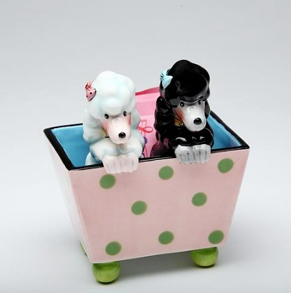 Poodles Salt And Pepper Shakers With Box