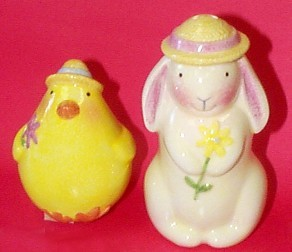 Bunny And Chick (David Walker) Salt And Pepper Shakers