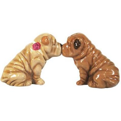 Shar Peis Kissing