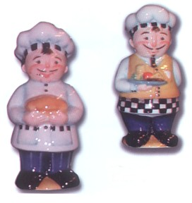 Chef's Salt And Pepper Shakers