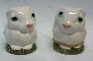 Rabbits Pot Belly Salt And Pepper Shakers