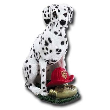 Dalmatian With Fire Equipment Adult Dog Figurine