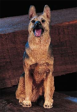 Brown German Shepherd Medium Dog Figurine