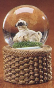 Pug Puppy Kennel Club Waterglobe