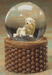 Yellow Labrador Puppy Kennel Club Waterglobe