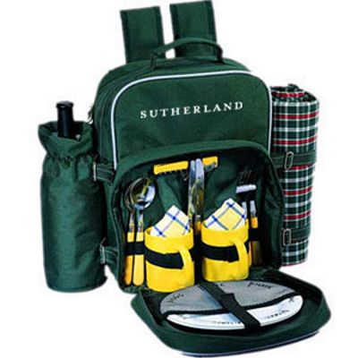 Irish Meadow Backpack Picnic Basket For 2