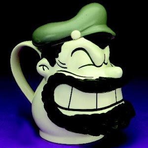 Brutus Head Small Teapot By Cardew