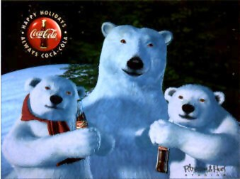 Coca-Cola Animation Art Cel - Cubs Day Out