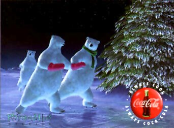 Coca-Cola Animation Art Cel - Enchanted Evening