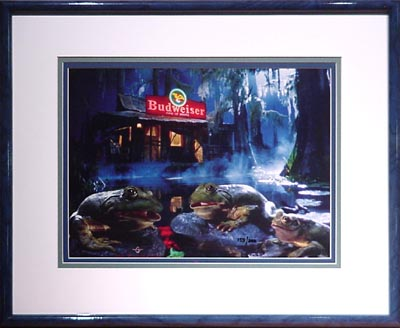 Budweiser Frogs Advertising And Animation Art Cel